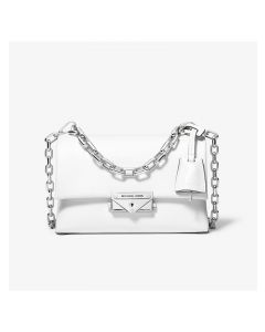 MICHAEL Michael Kors Cece Extra-Small Leather Crossbody Bag White