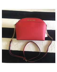 MICHAEL Michael Kors Cindy Large Dome Crossbody Bag Red
