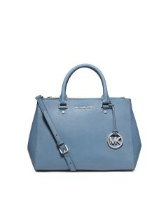 MICHAEL Michael Kors Sutton Medium Saffiano Leather Satchel Sky Blue