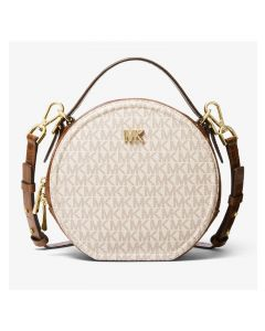 MICHAEL Michael Kors Delaney Medium Logo Canteen Crossbody Bag White