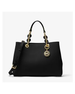 MICHAEL Michael Kors Cynthia Saffiano Leather Satchel Black