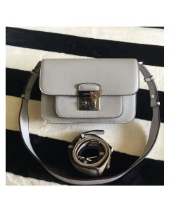 MICHAEL Michael Kors Sloan Editor Leather Shoulder Bag Grey