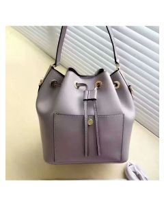 MICHAEL Michael Kors Greenwich Small Saffiano Leather Bucket Bag Grey