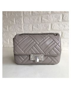 MICHAEL Michael Kors Sloan Large Quilted-Leather Shoulder Bag Grey