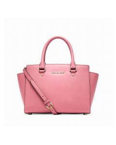 MICHAEL Michael Kors Selma Saffiano Leather Satchel Pink