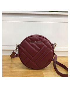 MICHAEL Michael Kors Vivianne Canteen Quilted Leather CrossBody Bag Burgundy