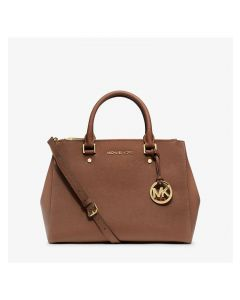 MICHAEL Michael Kors Sutton Medium Saffiano Leather Satchel Brown