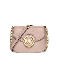 MICHAEL Michael Kors Fulton Small Leather Crossbody Pink