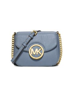 MICHAEL Michael Kors Fulton Small Leather Crossbody Sky Blue
