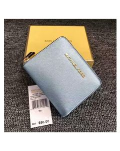 MICHAEL Michael Kors Jet Set Medium Travel Zip-Around Wallet Sky Blue