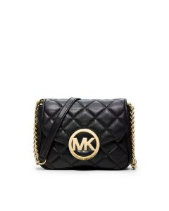 MICHAEL Michael Kors Fulton Small Quilted-Leather Crossbody Black