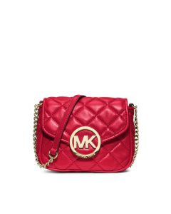 MICHAEL Michael Kors Fulton Small Quilted-Leather Crossbody Red