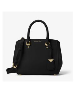 MICHAEL Michael Kors Benning Medium Leather Satchel Black
