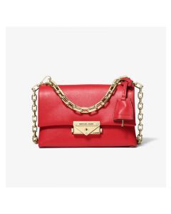 MICHAEL Michael Kors Cece Extra-Small Leather Crossbody Bag Red