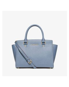 MICHAEL Michael Kors Selma Saffiano Leather Satchel Sky Blue