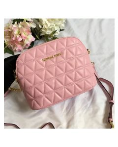 MICHAEL Michael Kors Cindy Large Leather Dome Crossbody Bag Pink