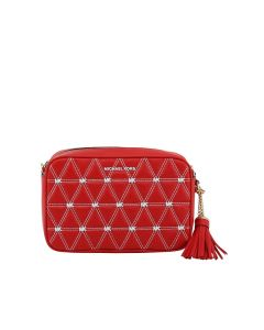 MICHAEL Michael Kors Ginny Medium Quilted Leather Crossbody Bag Red