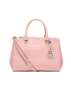 MICHAEL Michael Kors Sutton Medium Saffiano Leather Satchel Pink
