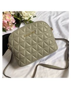 MICHAEL Michael Kors Cindy Large Leather Dome Crossbody Bag Green