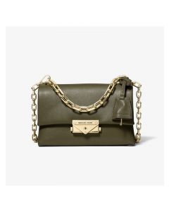 MICHAEL Michael Kors Cece Extra-Small Leather Crossbody Bag Olive