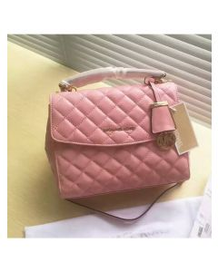 MICHAEL Michael Kors Ava Small Quilted-Leather Satchel Pink