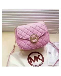MICHAEL Michael Kors Fulton Small Quilted-Leather Crossbody Pink