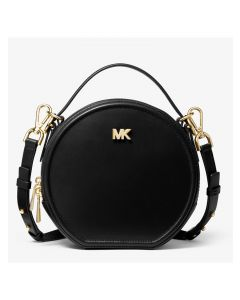 MICHAEL Michael Kors Delaney Medium Leather Canteen Crossbody Bag Black