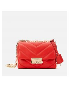 MICHAEL Michael Kors Cece Extra-Small Quilted Leather Crossbody Bag Red