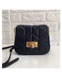 MICHAEL Michael Kors Peyton Small Leather Crossbody Bag Black