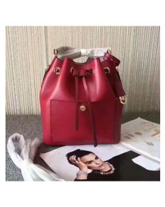 MICHAEL Michael Kors Greenwich Small Saffiano Leather Bucket Bag Red