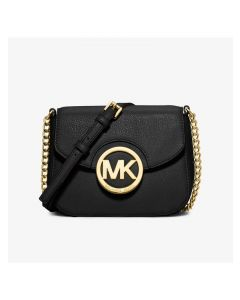 MICHAEL Michael Kors Fulton Small Leather Crossbody Black
