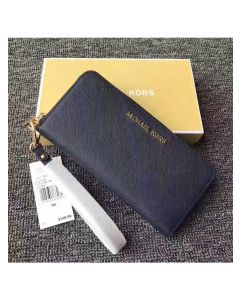 MICHAEL Michael Kors Jet Set Saffiano Leather Continental Wallet Navy Blue