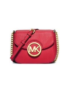 MICHAEL Michael Kors Fulton Small Leather Crossbody Red