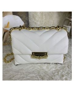 MICHAEL Michael Kors Cece Extra-Small Quilted Leather Crossbody Bag White
