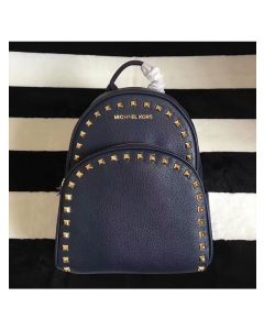 MICHAEL Michael Kors Abbey Studded Leather Backpack Navy Blue