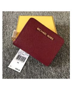 MICHAEL Michael Kors Jet Set Medium Travel Zip-Around Wallet Burgundy