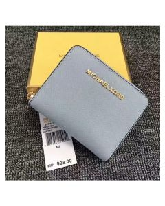 MICHAEL Michael Kors Jet Set Medium Travel Zip-Around Wallet Light Blue