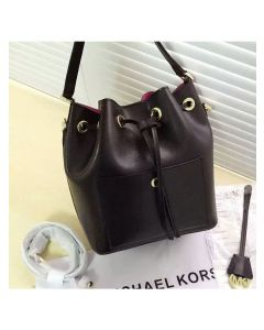 MICHAEL Michael Kors Greenwich Small Saffiano Leather Bucket Bag Black