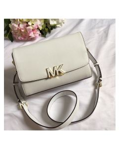 MICHAEL Michael Kors Montgomery Leather Convertible Crossbody Bag White