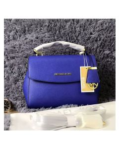 MICHAEL Michael Kors Ava Small Saffiano Leather Satchel Blue