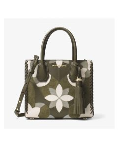 MICHAEL Michael Kors Mercer Floral Patchwork Leather Tote Green