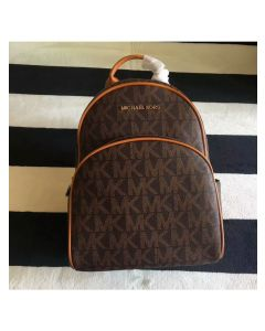 MICHAEL Michael Kors Abbey Logo Backpack Coffee