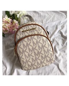 MICHAEL Michael Kors Abbey Mini Logo Backpack White