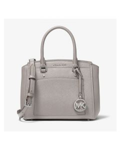 MICHAEL Michael Kors Park Medium Saffiano Leather Satchel Grey